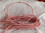 3mm Pink Braided Leather Necklace Cord with Magnetic Clasp