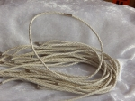 3mm White Braided Leather Necklace Cord with Magnetic Clasp