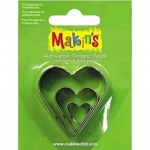 Makins 3 pcs Hearts Cutter Set