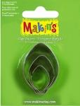 Makins 3 pcs Bulb Ornaments Cutter Set