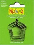 Makins 3 pcs Cup Cakes Cutter Set