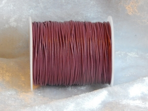 0.5mm Mauve Indian Round Leather Thonging