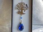 Equilibrium Suncatcher Tree of Life with Butterflies Blue