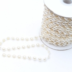Pearl Single Trim approx. 8mm Wide Per Meter