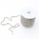 Silver Diamante Chain approx. 3mm Wide Per Meter