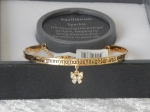 Pure Elegance Charm Bangle Gold Plate - Friends *CLEARANCE COST PRICE ONLY*