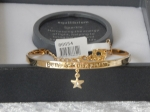 Pure Elegance Charm Bangle Gold Plate - Star *CLEARANCE COST PRICE ONLY*