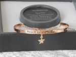 Pure Elegance Charm Bangle Rose Gold Plate - Stars *CLEARANCE COST PRICE ONLY*