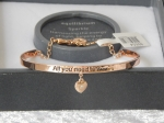 Pure Elegance Charm Bangle Rose Gold Plate - Love *CLEARANCE COST PRICE ONLY*