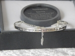 Pure Elegance Charm Bangle Silver Plate - Heart *CLEARANCE COST PRICE ONLY*