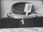 Pure Elegance Charm Bangle Silver Plate - Love *CLEARANCE COST PRICE ONLY*