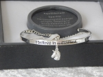 Pure Elegance Charm Bangle Silver Plate - Unicorns *CLEARANCE COST PRICE ONLY
