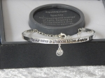 Pure Elegance Charm Bangle Silver Plate - Happy *CLEARANCE COST PRICE ONLY*