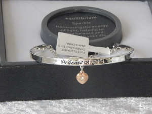 Pure Elegance Charm Bangle Silver Plate - Gold *CLEARANCE COST PRICE ONLY*