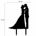 Acrylic Cake Topper - Bride & Groom A