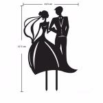 Acrylic Cake Topper - Bride & Groom B