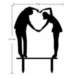 Acrylic Cake Topper - Human Love Heart