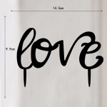 Acrylic Cake Topper - Love