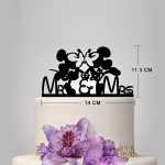 Acrylic Cake Topper - Mickey & Minnie