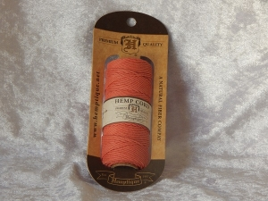 Hemp Cord Spool 50gm Sunset Coral 1mm