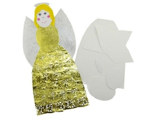 Xmas Paper Shapes Build-An-Angel Pack of 10