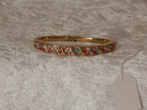 Bridge Bangle Gold Plate Multi