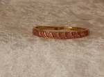 Bridge Bangle Gold Plate Pink