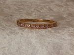 Bridge Bangle Gold Plate Purple