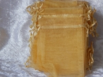 Organza Bags Lot of 10 Gold