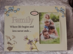 Frame Photo Mirrored Message 4x6 Family