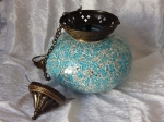 Turkish Tealight Lamp Turquoise Large