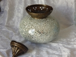 Turkish Tealight Lamp Silver Large