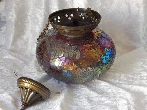 Turkish Tealight Lamp Rainbow Large