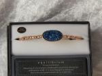 Equilibrium Bracelet Agate/Druzy Crystal Blue