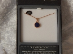 Equilibrium Necklace Agate/Druzy Crystal Blue