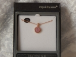 Equilibrium Necklace Agate/Druzy Crystal Pink
