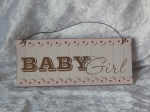 Hanging Plaque Baby Girl