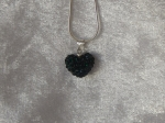 14mm Shamballa Heart Necklace Dark Green