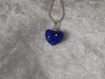 14mm Shamballa Heart Necklace Sapphire