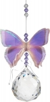 Australian Butterfly Suncatcher - Purple Azure 40mm Sphere