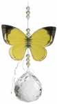 Australian Butterfly Suncatcher - Grass Yellow 20mm Sphere
