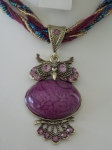 Owl Necklace - Purple