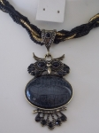 Owl Necklace - Black