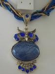 Owl Necklace - Dark Blue
