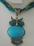 Owl Necklace - Turquoise