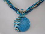 Peacock Necklace - Blue