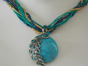 Peacock Necklace - Turquoise