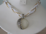 Peacock Necklace - White