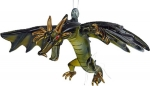 Hanging Glass Flying Dragon - Black/Green