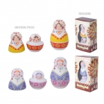 Salt & Pepper Shakers Russian Dolls Yellow